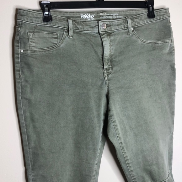 Mossimo Supply Co. Denim - Mossimo jegging jean 16 distressed army green